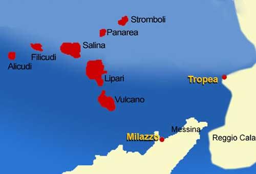 Isole eolie Lipari panarea stromboli