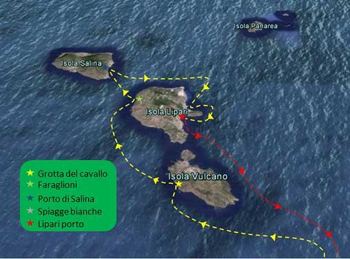 escursione da milazzo alle 3 sole: Salina, Lipari, vulcano