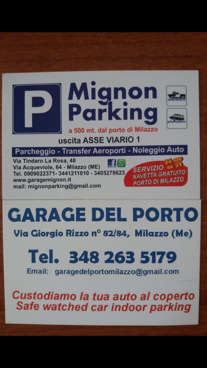 indicazioni di parcheggio